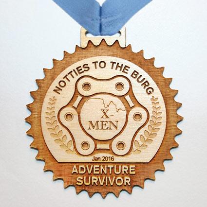 Unique Engraved Awards Medal in Wood
