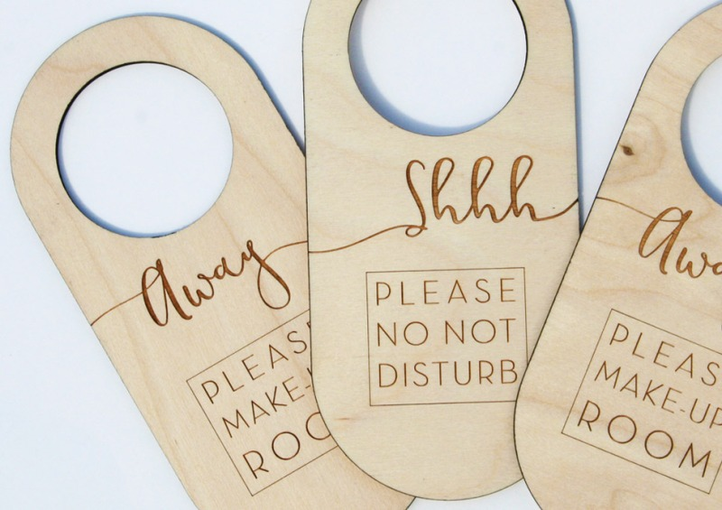 Wooden Door Signs engraved with Do Not Disturb